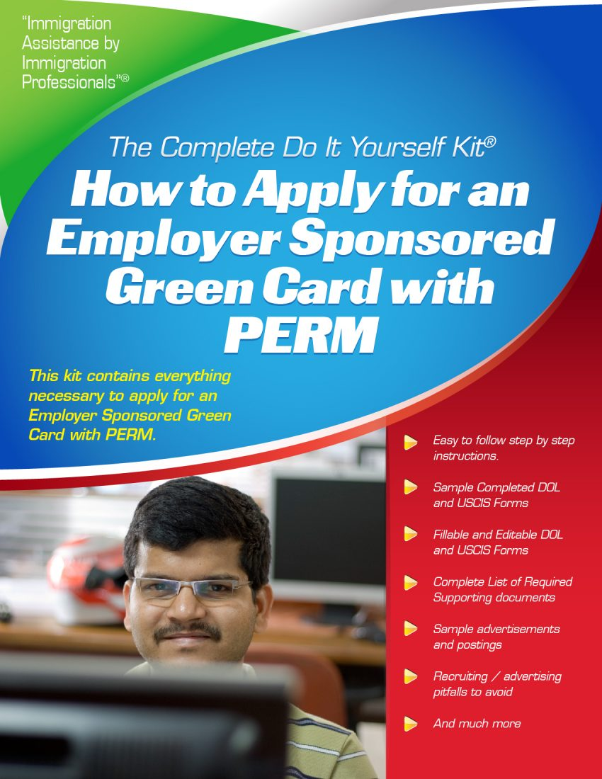 Employer sponsored labor certification using perm complete do it do it yourself kit perm kit solutioingenieria